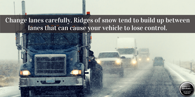 Tips from out automobile accident attorneys for driving safe in winter storms.