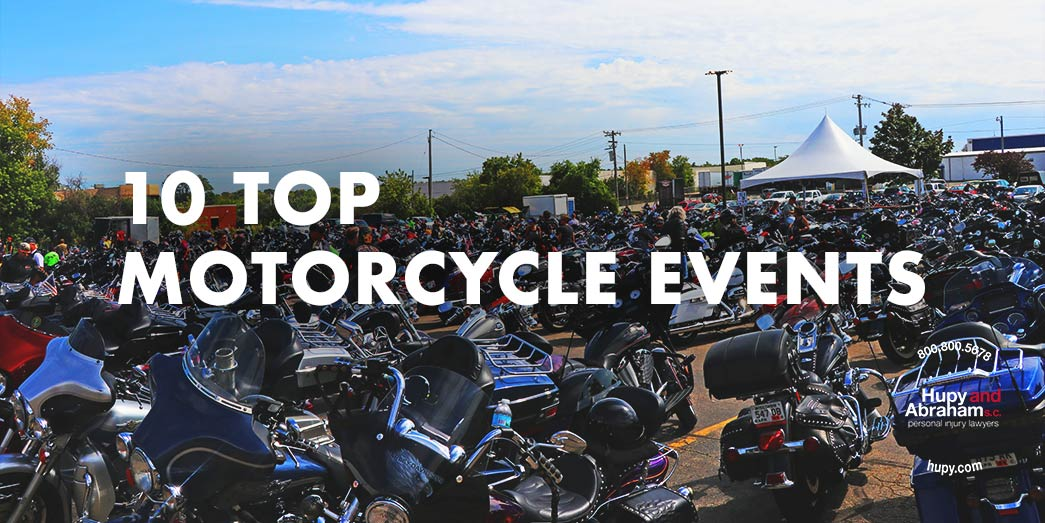 Huge motorcycle event with hundreds of motorcycles