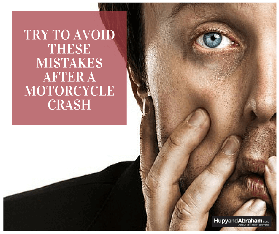 Be careful not to make a strategic mistake after a motorcycle accident