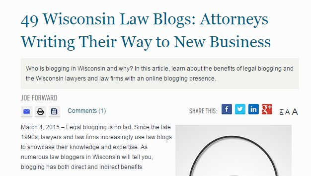 Wisconsin State Bar: Legal Blogs