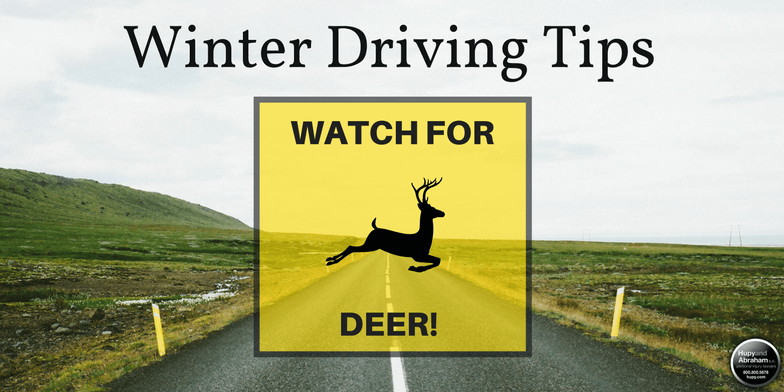 During the late fall and early winter months, deer are a significant hazard on the roads