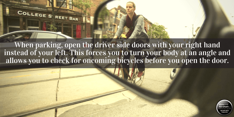 "Tips for cyclists and drivers to avoid dangerous ""dooring"" accidents"