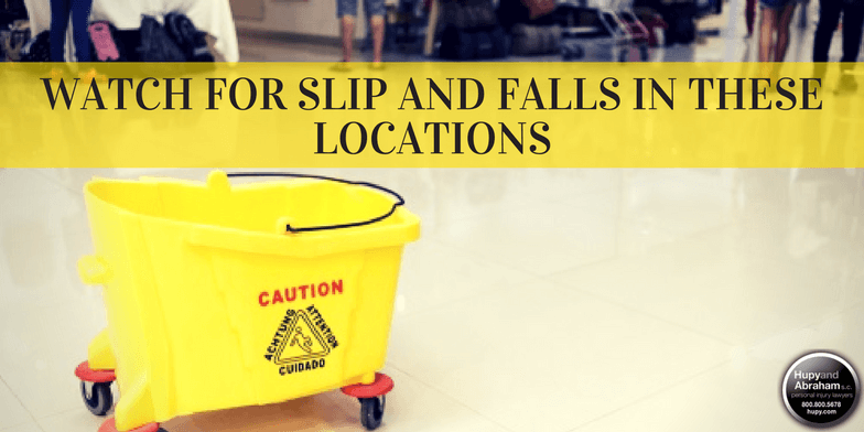Fall or trip accidents can happen almost anywhere, but certain locations have greater risks
