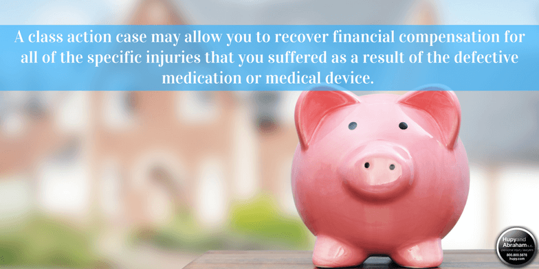 A pharmaceutical class action can allow you to recoup your losses after a drug or medical device injury