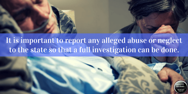 There are actions you should take if you expect nursing home abuse or neglect has occurred