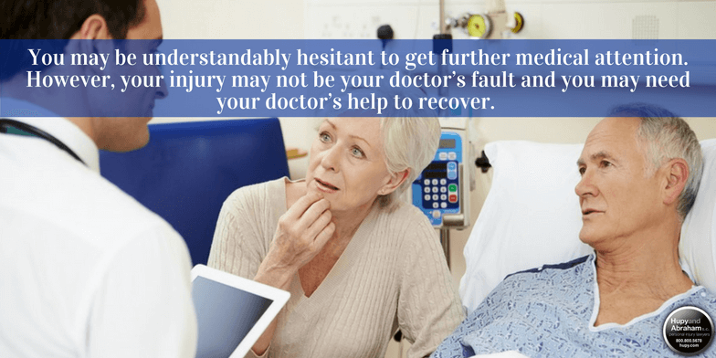 Get prompt medical care after a drug or medical device injury