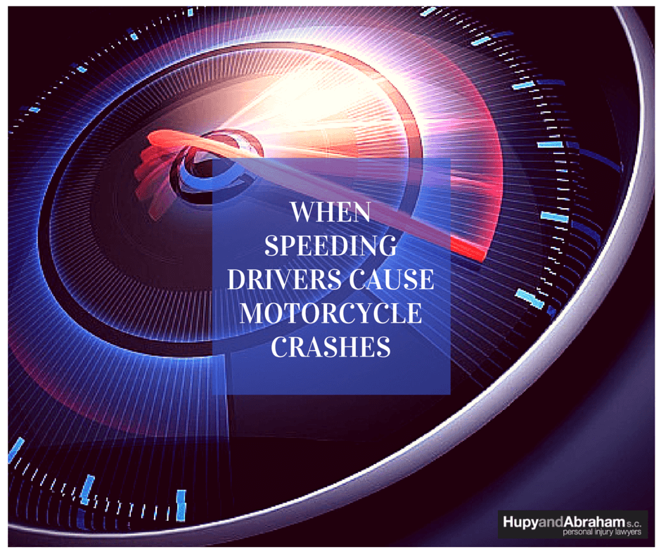Speeding auto drivers can cause severe motorcycle accidents.