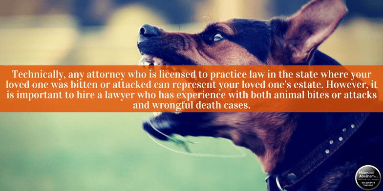 A fatal dog attack can give rise to a wrongful death lawsuit