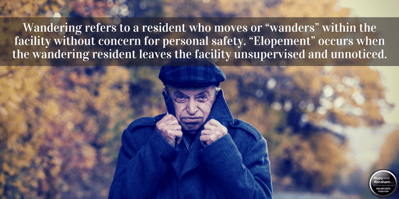 Many residents are at risk if they leave nursing home grounds without an escort