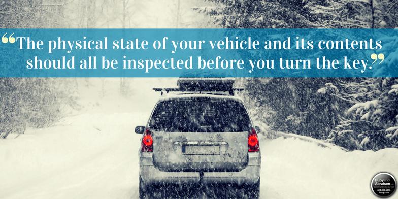 Winter Auto Safety Preparedness Checklist