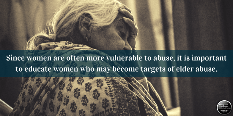 Women suffering from Elder Abuse
