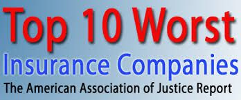 Banner with text saying Top 10 Worst Insurance Companies