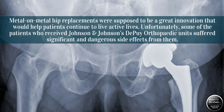 DePuy metal-on-metal hip replacements have become notorious for severe complications