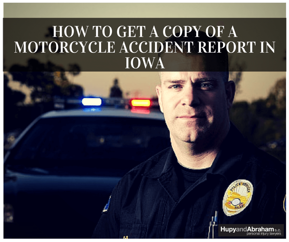 The police report may give vital information for your motorcycle accident claim