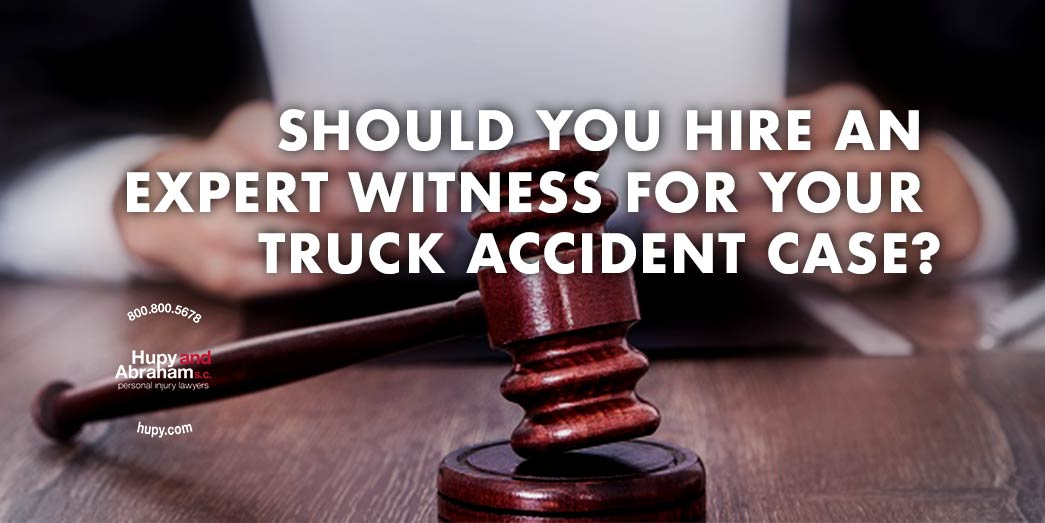 Truck accident case judge with gavel