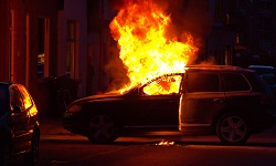 Severe burn injuries can result when an automobile catches on fire