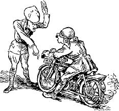 Graphic of police officer pulling a cyclist over