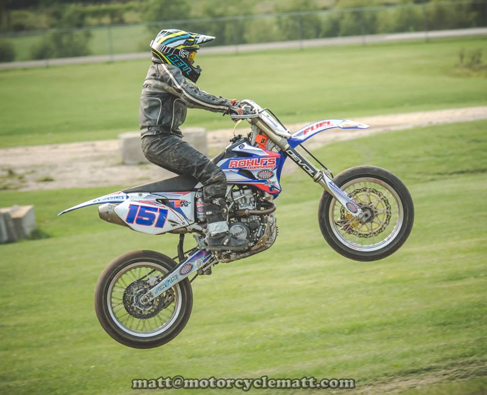 Brady Lange jumping motorcycle