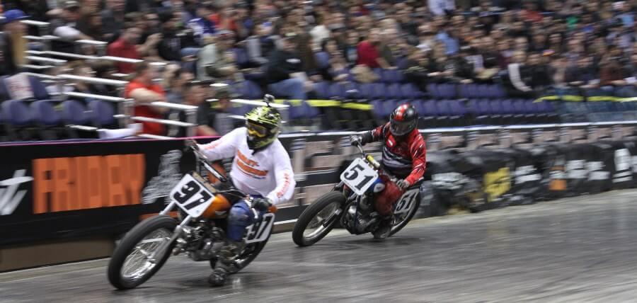 Motorcycle racing at Flat Out Friday