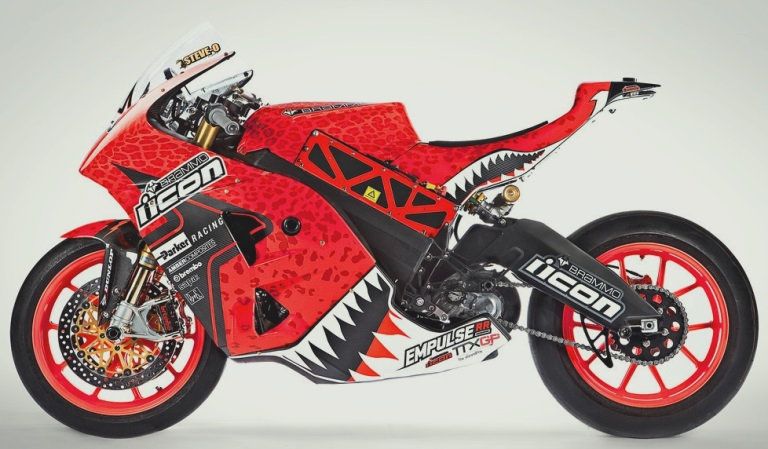 Red Brammo Empulse Motorcycle