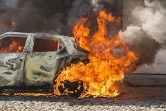 Severe burns can result from an Iowa auto crash