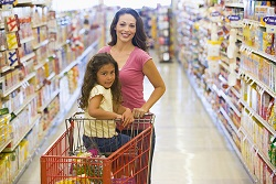The grocery store may be liable if your child falls from her shopping cart seat