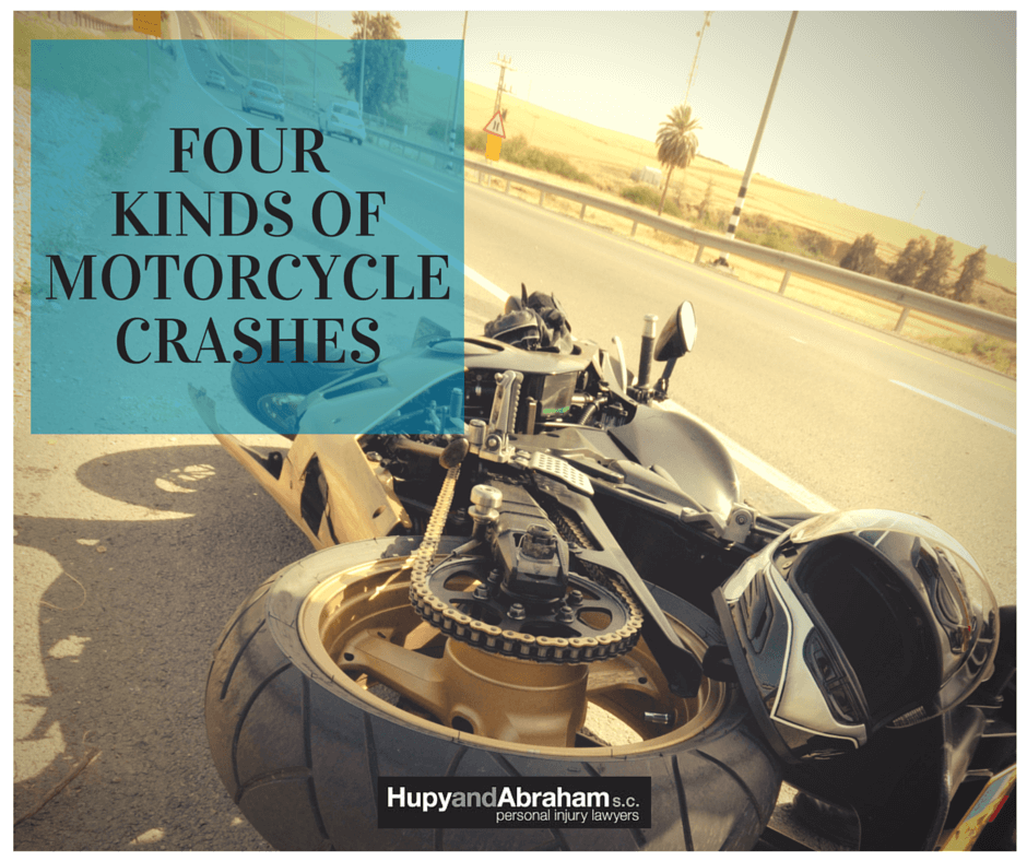 wrecked motorcycle on highway