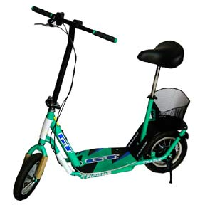 Small green scooter