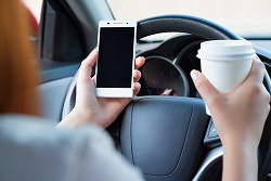 A distracted driver is much more likely to cause an accident