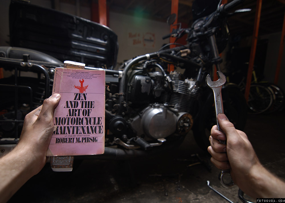 motorcycle maintenance essay Zen and the art of motorcycle maintenance: an inquiry into values (zamm), by robert m pirsig, is a book that was first published in 1974it is a work of fictionalized autobiography, and is the first of pirsig's texts in which he explores his metaphysics of quality.