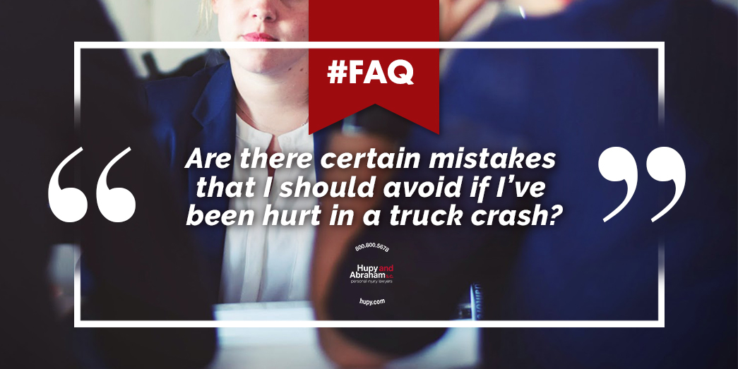 Mistakes To Avoid After A Truck Crash