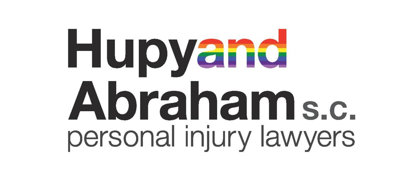 Hupy and Abraham logo with Pride support