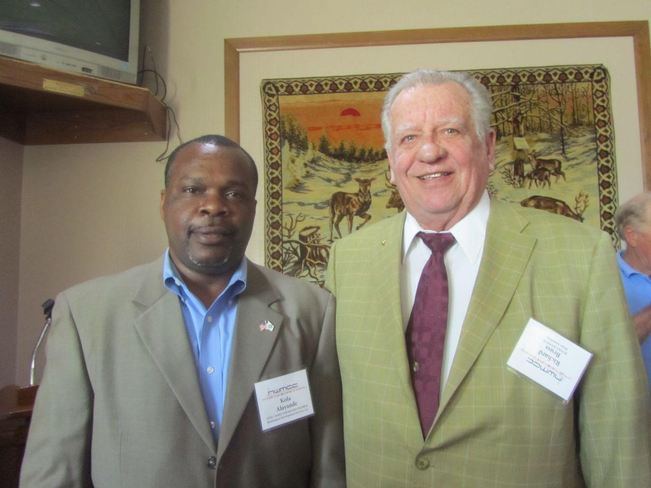 Richard Bruss and Kola Alayande at Northwest Milwaukee Chamber of Commerce Business Luncheon