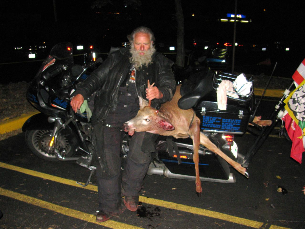 Former Wisconsin State Senator Dave Zien, after hitting a deer with his motorcycle in October, 2010.