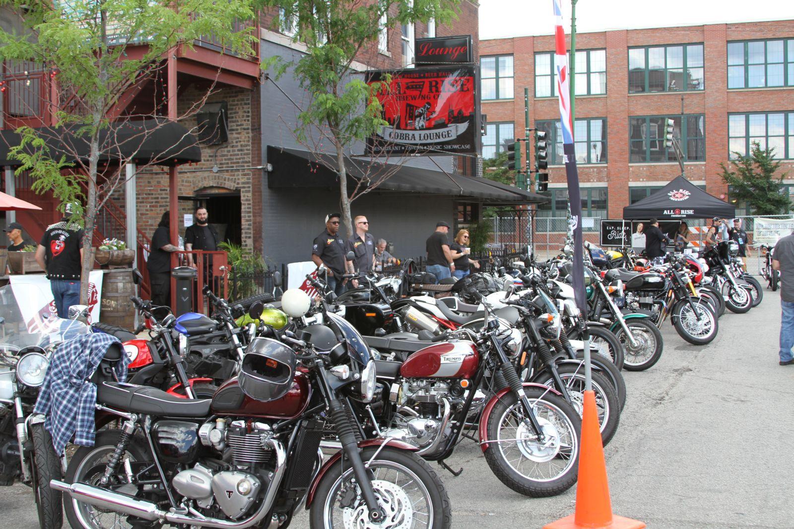 Big row of motorcycles