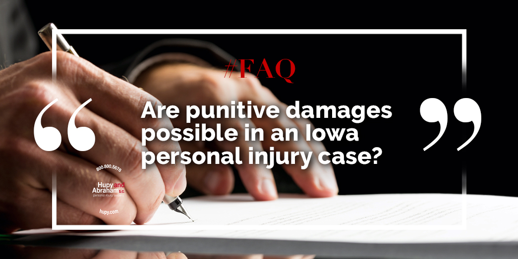 Punitive Damages In Iowa Personal Injury Cases