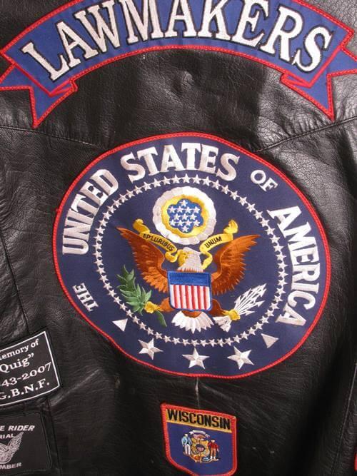 Lawmakers motorcycle vest patch