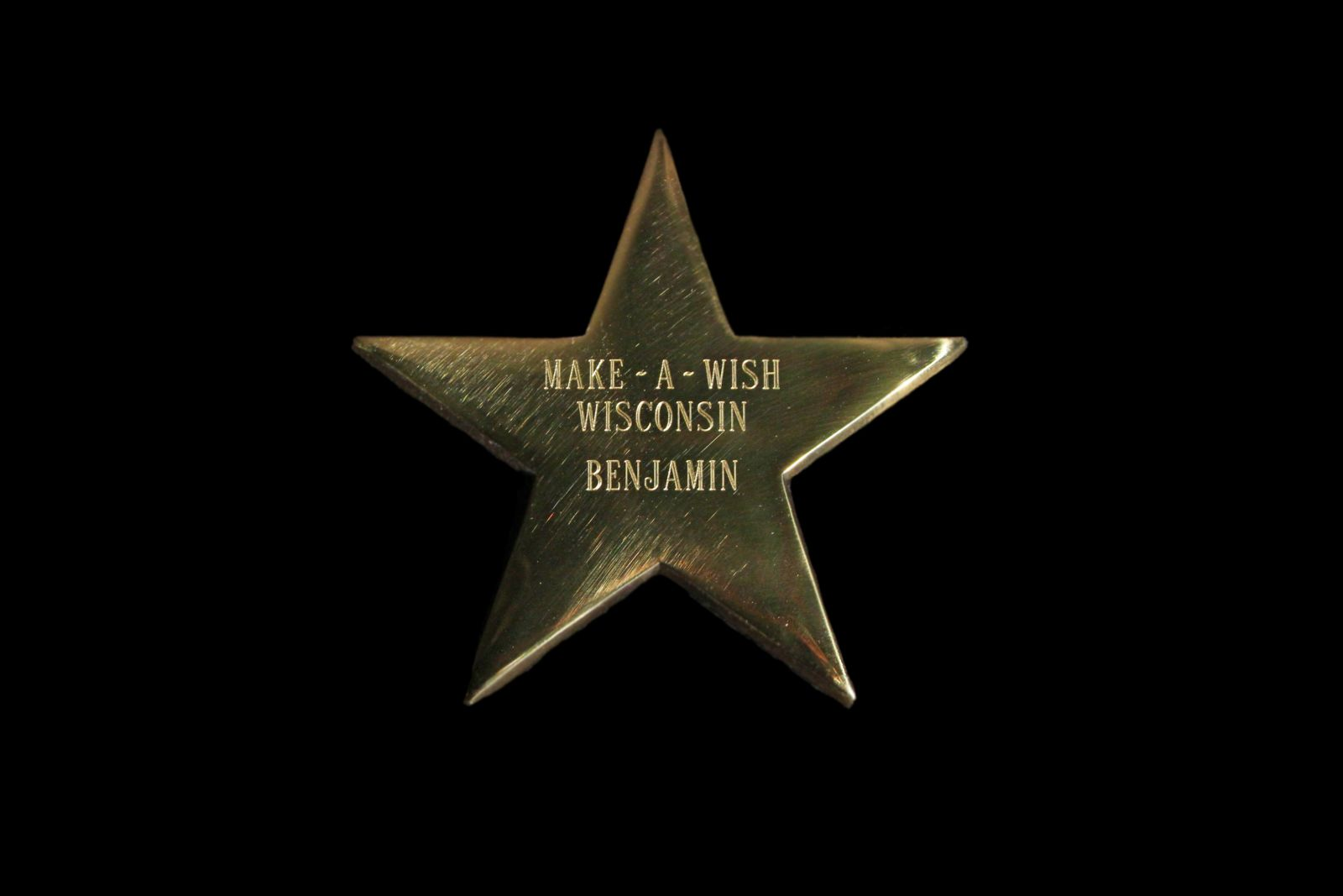 Make A Wish Wisconsin Star for Benjamin