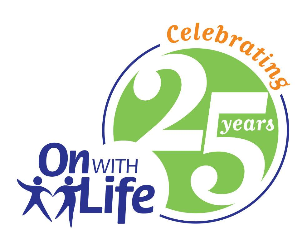 on with life 25 Years Logo