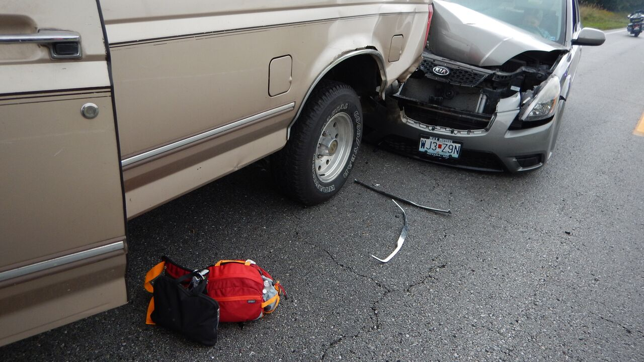 Two car accident during the fest
