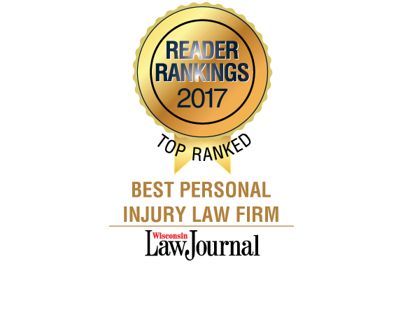 Wisc Law Jorunal Top Ranked Best Personal Injury Law Firm ribbon