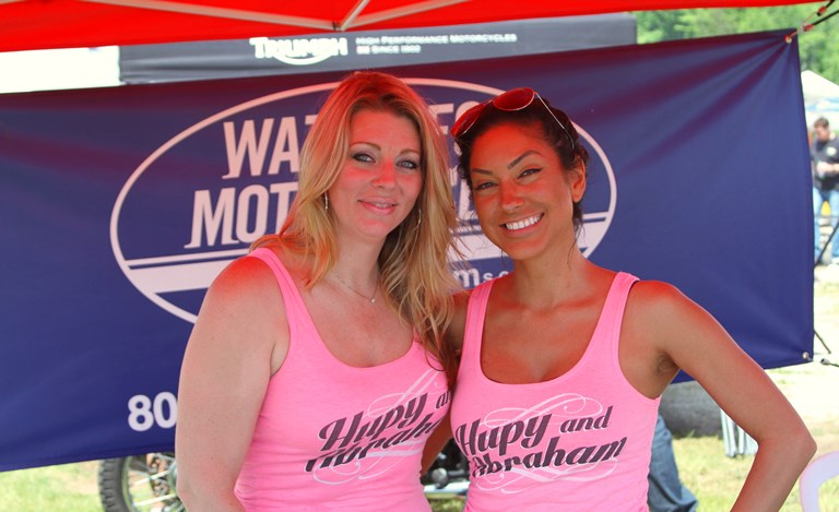 Hupy and Abraham volunteers at Rockerbox Motofest