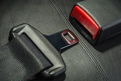 Make a point of buckling your seat belt when you ride in a Chicago taxi.