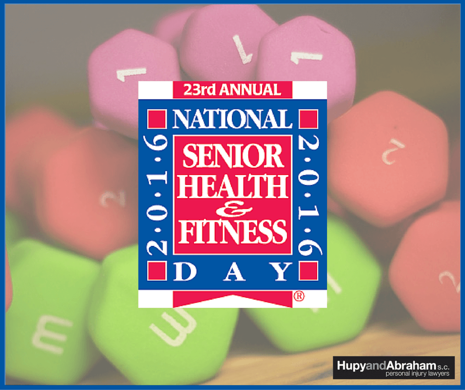 National senior health and fitness day logo
