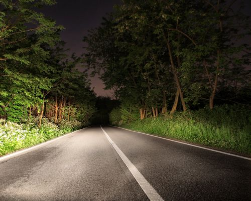 To avoid a Wisconsin motorcycle night-accident, keep your high beam headlights on while driving.