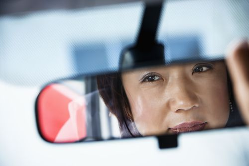 Use all your available car mirrors to help you stay out of a Cedar Rapids car accident.