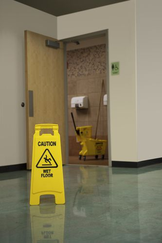 Slip and fall accidents are common with Wisconsin building cleaning and maintenance workers.