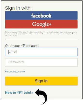 signin to YP