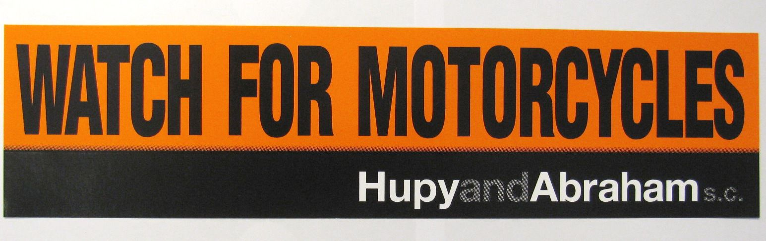 Watch for motorcycles sticker orange