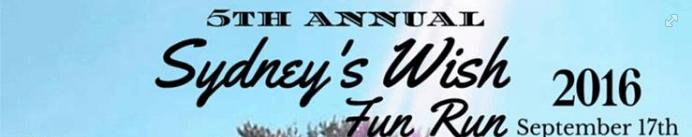 2016 Sydney's Wish Fun Run Logo